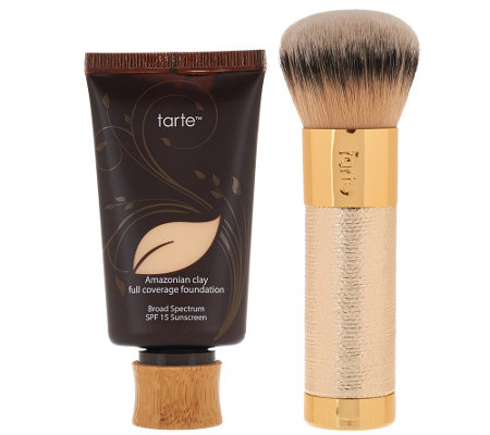 tarte Amazonian Clay Foundation w/ Limited Edition Deco Brush