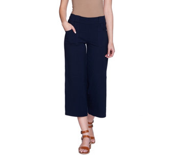 Women with Control Pull-On Gaucho Pants with Pockets - A273830