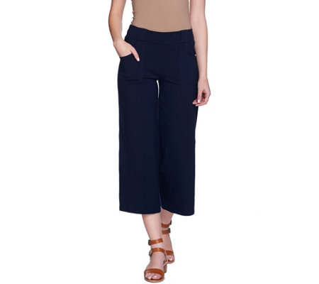 Women with Control Pull-On Gaucho Pants with Pockets