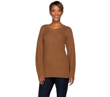 """As Is"" Lisa Rinna Collection Mixed Stitch Sweater"
