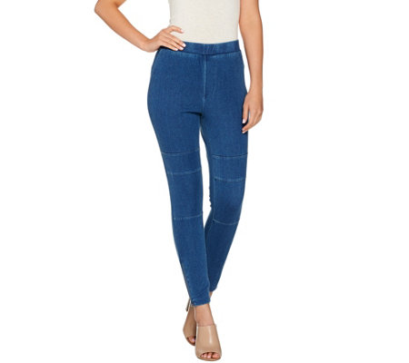 Lisa Rinna Collection Stretch Denim Slim Leg Ankle Jeans