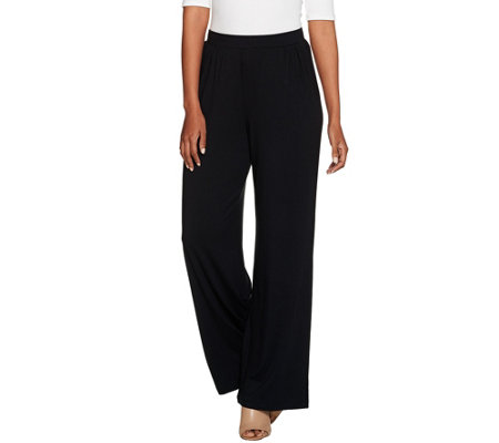 H by Halston Regular Full Length Pull-On Palazzo Pants