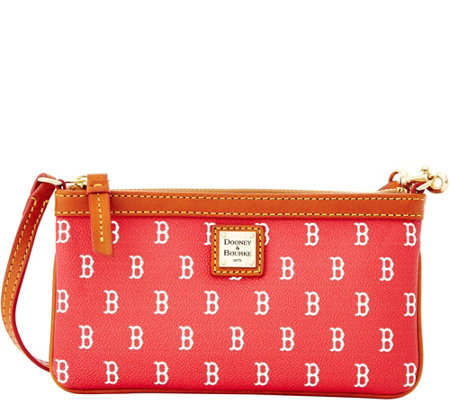 Dooney & Bourke MLB Red Sox Large Slim Wristlet
