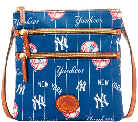 Dooney & Bourke MLB Nylon Yankees Triple Zip Crossbody