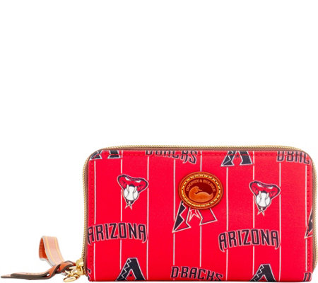Dooney & Bourke MLB Nylon Diamondbacks Zip Around Phone Wristlet