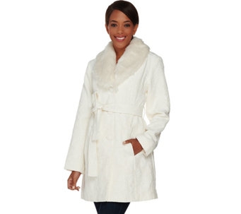 Susan Graver Tapestry Jacket with Faux Fur Collar - A283530