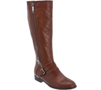 """As Is"" Marc Fisher Leather Tall Shaft Boots - Joanna - A283730"