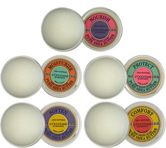 L'Occitane Pure Shea Set of 5 Gift Tins - A288130