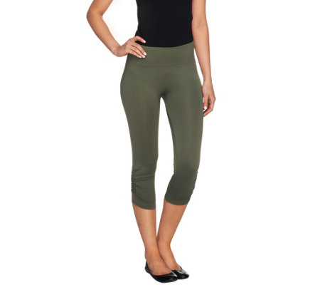 """As Is"" Legacy Capri Length Leggings with Side Ruching"