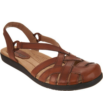 Earth Origins Leather Closed Toe Sandals - Nellie - A289330