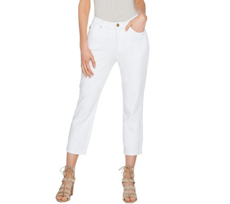 Belle by Kim Gravel Flexibelle Cropped Jeans
