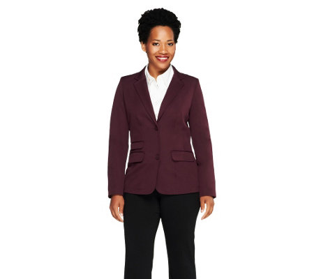 """As Is"" Isaac Mizrahi Live! 24/7 Stretch Hacking Jacket"