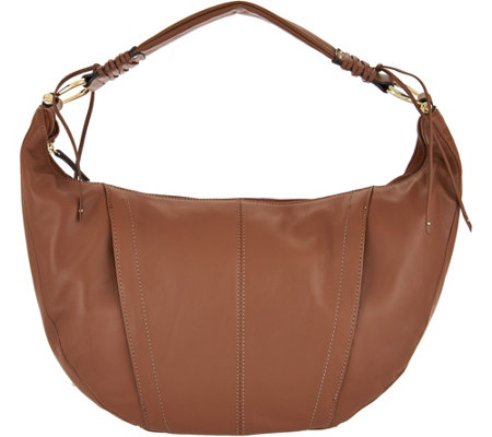 """As Is"" Tignanello Smooth Leather Hobo"