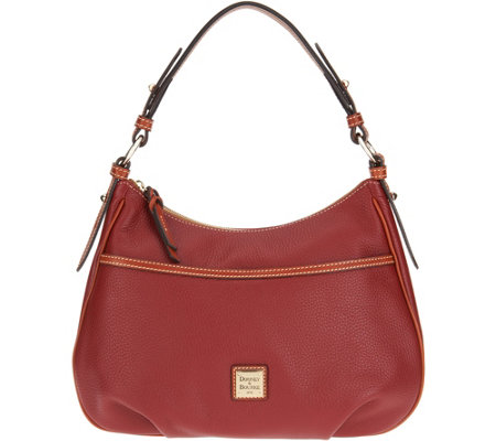 """As Is"" Dooney & Bourke Pebble Leather East/West Shoulder Bag"