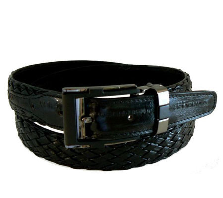 Lee Sands Men's Woven Eelskin Belt