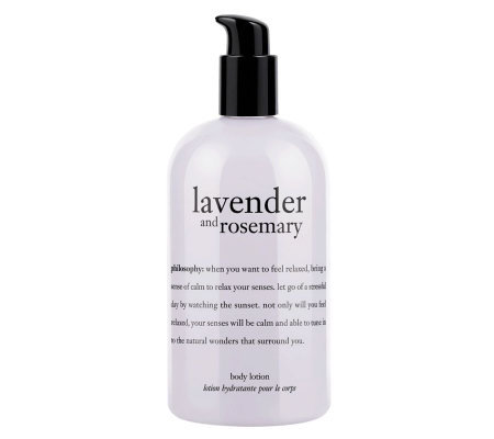philosophy lavender & rosemary body lotion, 16oz
