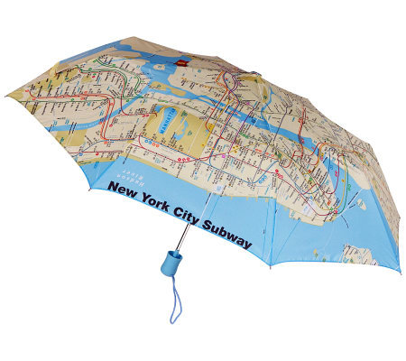 Leighton NYC Compact Auto Open Umbrella
