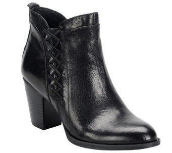 Sofft Leather Block Heel Ankle Boots - Waverly - A355530