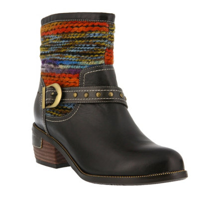 L'Artiste by Spring Step Leather Boots - Gaetana