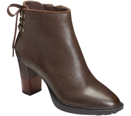 Aerosoles Leather Ankle Booties - Fact Fiction