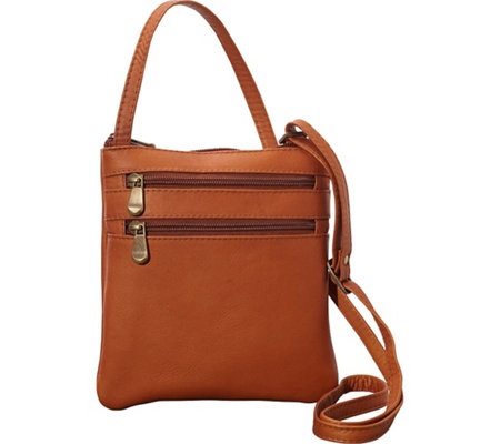 Le Donne Leather Two Zip Crossbody Minibag
