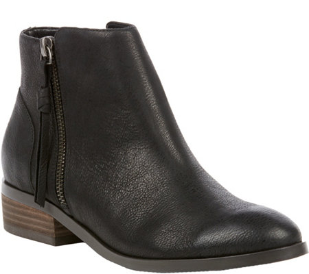 Sole Society Leather Ankle Boots - Abbott