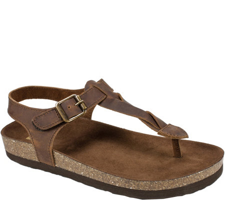 White Mountain Leather Thong Sandals - Hara