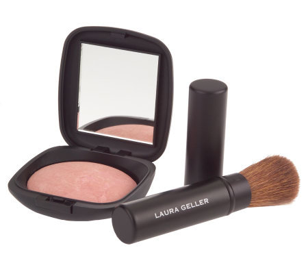 Laura Geller Baked Ethereal Rose Radiant Face Powder & Brush