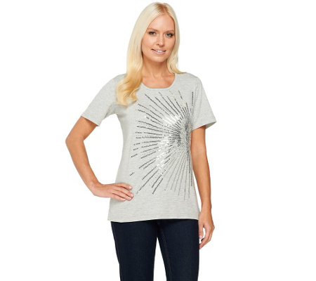 Quacker Factory Starburst Short Sleeve T-shirt