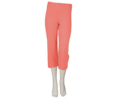"""As Is"" Women with Control Pull-on Knit Crop Pants"