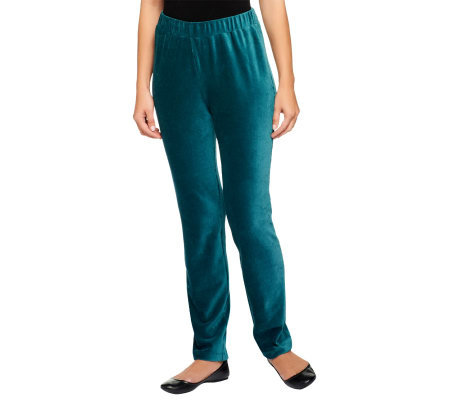 Susan Graver Knit Corduroy Pull On Pants