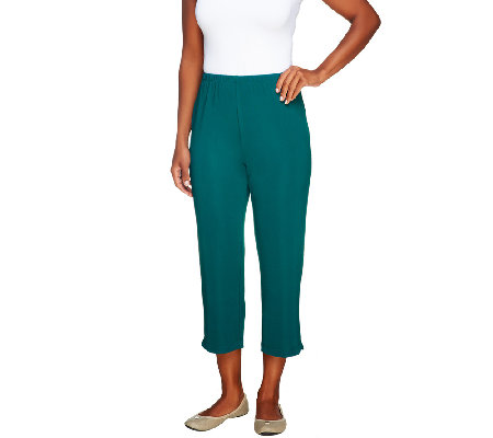 Susan Graver Lustra Knit Crop Pants