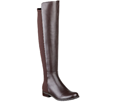 Marc Fisher Leather and Stretch Over-the-knee Boots - Monica