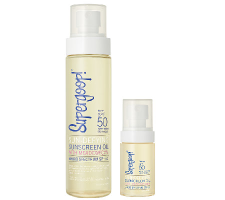 Supergoop! Sun-Defying Sunscreen Oil SPF 50 with Travel Size