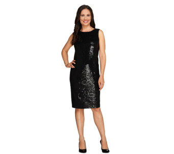 Joan Rivers Regular Sequin Sheath Dress - A258831