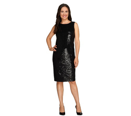 Joan Rivers Regular Sequin Sheath Dress