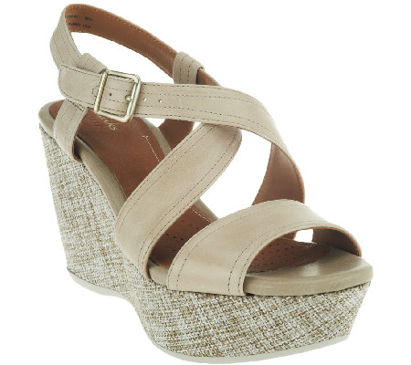 Clarks Artisan Leather Wedges - Nadene Ziva
