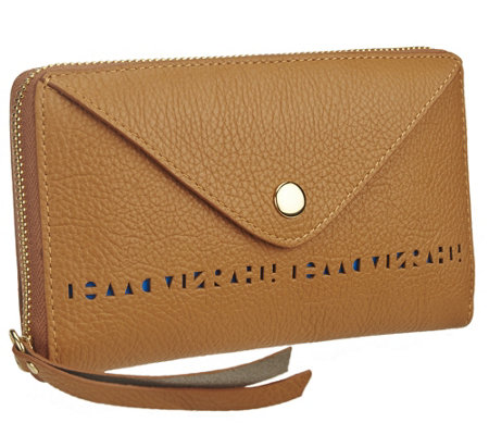 Isaac Mizrahi Live! Bridgehampton Perforated Leather Wallet