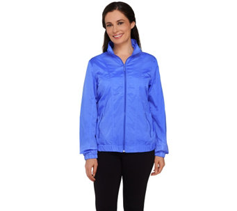 Denim & Co. Golf Zip Front Windbreaker Jacket - A264731