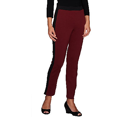 Liz Claiborne New York Color Blocked Ponte Knit Ankle Pants