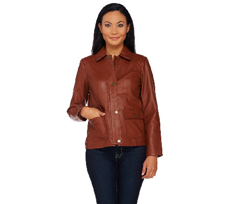 Liz Claiborne New York Heritage Collection Lamb Leather Jacket