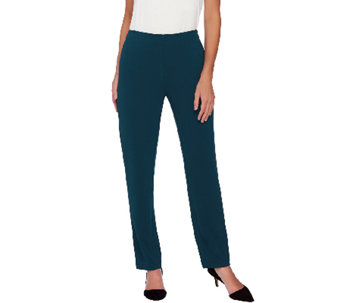 Susan Graver Passport Knit Hollywood Waist Pull-On Pants - A269231