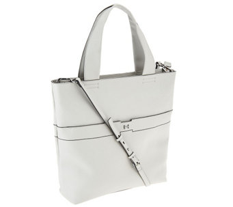 H by Halston Pebble Leather Tote Handbag - A269731