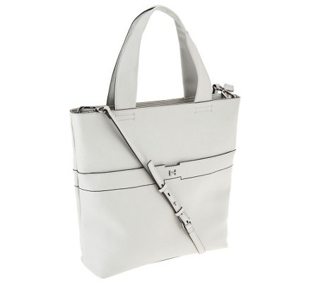 H by Halston Pebble Leather Tote Handbag