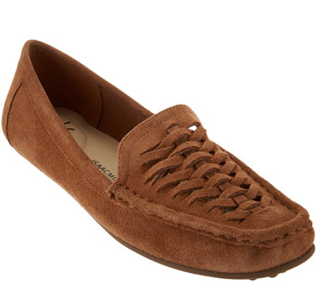 Isaac Mizrahi Live! Leather or Suede Fisherman Moccasins