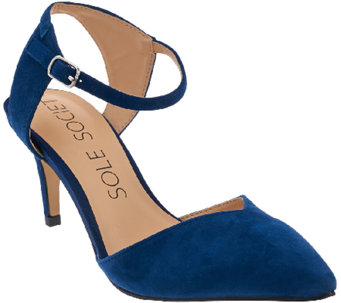 Sole Society Suede Ankle Strap Pumps - Laurent - A273031