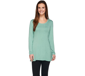 LOGO by Lori Goldstein Knit Top with Seaming Details - A273331