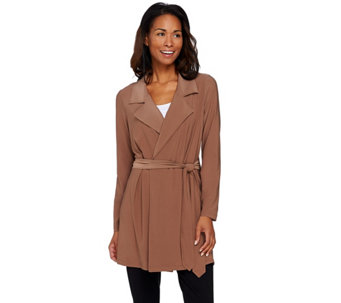 Attitudes by Renee Jersey Knit Trench Style Jacket - A273831
