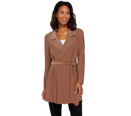 Attitudes by Renee Jersey Knit Trench Style Jacket