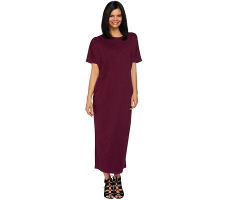 Joan Rivers Regular Ponte Knit Caftan Dress with Pockets